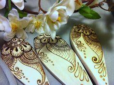 Pyrography on birch spoons.  www.greenwoodcreationsshop.com