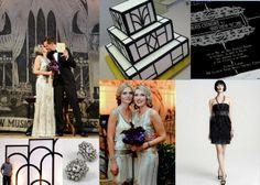 silver and black art deco wedding inspiration