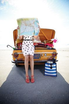 I wish my entire life was a road trip. And ideally I'd wear this same dress and shoes....