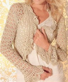 "MADE TO ORDER - a crochet spring/summer/fall bolero cardigan by ""AsDidy"" on Etsy Crochet Cardigan, Crochet Shawl, Crochet Stitches, Knit Crochet, Crochet Summer, Caron Yarn, Shawls And Wraps, Autumn Summer, Boho Chic"