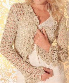 "MADE TO ORDER - a crochet spring/summer/fall bolero cardigan by ""AsDidy"" on Etsy Crochet Cardigan, Crochet Shawl, Knit Crochet, Crochet Summer, Crochet Stitches, Shawls And Wraps, Autumn Summer, Boho Chic, Rustic Chic"