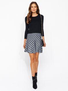 Image for Spot Jacquard Flip Skirt from Portmans