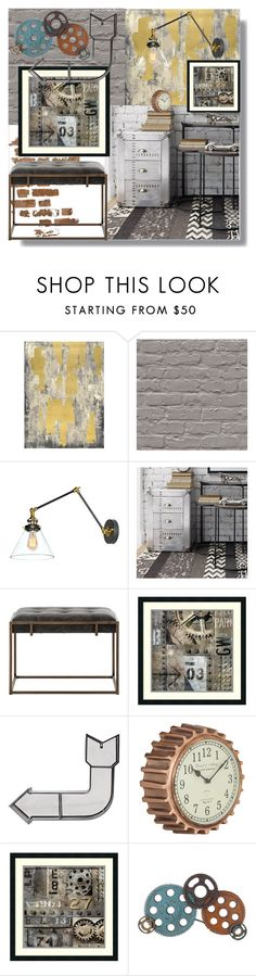 """Industrial Home"" by childofgod-97 on Polyvore featuring interior, interiors, interior design, home, home decor, interior decorating, Pottery Barn, Amanti Art, Dot & Bo and Aurelle Home"