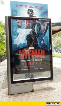Ant-Man Poster At A Bus Stop  -   #antman #kurttasche #marvelmovies