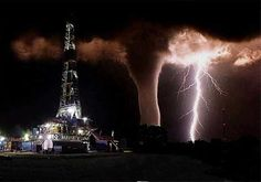 WOW!!  I'm glad this isn't one of our wells!!!!  It's photoshopped anyway.  The tornado is real but it's not next to the oil well drilling site.