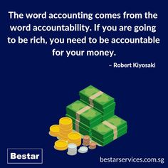 Our registered accounting firm in Singapore offers a wide spectrum of accounting advice and assistance services, along with compliance management and tax management services to our clients. Outsourced accounting services to us at Bestar Bookkeeping And Accounting, Accounting Services, Cash Flow Statement, Financial Statement, Professional Accounting, Robert Kiyosaki, Financial Planning, Spectrum, Singapore