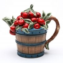 Cherry Basket Country Kitchen Fruit Teapot