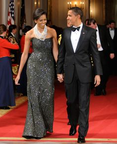 President Obama and First Lady Michelle Obama looked sharp during a black-tie dinner at the White House in Feb.