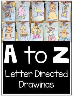 Alphabet Journal in Kindergarten - First Grade Blue Skies