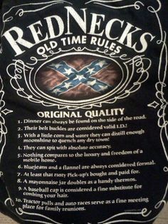 Redneck rules- want to turn this into a poster