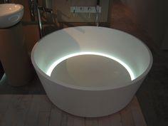 bathtub with light