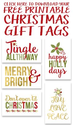 Free Printable Christmas Gift Tags It's November Halloween is over, and it's time to start getting ready for Christmas! Even if you're a last minute scrambler, these printable Christmas gift tags will make it seem as though you've been on Christmas Labels Template, Free Printable Christmas Gift Tags, Free Christmas Gifts, Holiday Gift Tags, Printable Tags, Christmas Decor, Christmas Ideas, Christmas Cards, Christmas Stuff