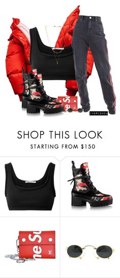 """""""io"""" by ivorionda ❤ liked on Polyvore featuring T By Alexander Wang, Supreme, Vintage Frames Company and Vanessa Mooney"""