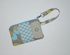 Lacework Grey and Full Moon Polka Dot - Wristlet Purse with Interior Pocket