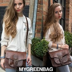 Make your #style statement with this hand made #hip #satchel and more from our webstore http://mygreenbag.co.uk/coco-leather-satchels.php#!/The-Hand-Stitched-Hip-Satchel-Dark-Brown/p/40888120/category=11363061 #bags MGBxx