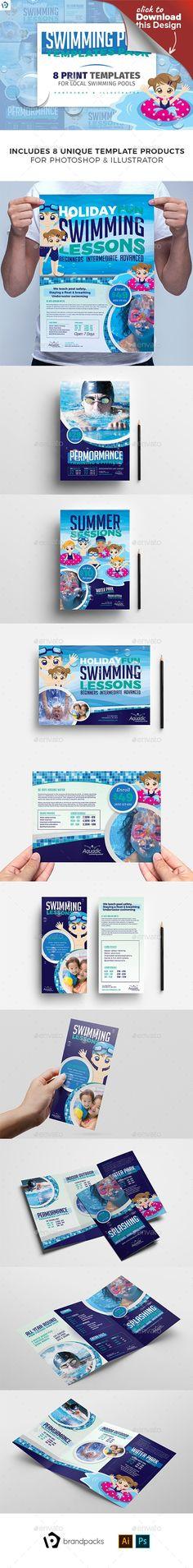 ai, banner, BrandPacks, brochure template, dl, flyer, illustractor, leaflet, outdoor pool, pamphlet, photoshop, pool, poolside, poster, psd, rack card, swim lessons, swim school, swimming, swimming bath, swimming baths, swimming centre, swimming club, swimming lesson, swimming pool, template, tri fold, trifold Swimming Centre Templates Bundle for Adobe Photoshop & Adobe Illustrator   Create professional print advertisements, posters & flyers for swimming pools and schools to promot...
