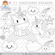Unicorn Stamp, COMMERCIAL USE, Digi Stamp, Digital Image, Party Digistamp, Unicorn Coloring Page, Unicorn Clipart, Unicorn Graphics, Graphic Unicorn Coloring Pages, Free Coloring Pages, Coloring Sheets, Coloring Books, Unicorn Birthday Parties, Unicorn Party, Cute Unicorn, Hand Embroidery Patterns, Digital Stamps