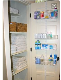 Organized Linen Closet | Closet organization, Toilets and ...