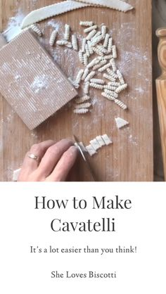 Discover how easy it is to make your own cavatelli! This family recipe is sure to please even the pickiest of eaters! Discover how easy it is to make your own cavatelli! This family recipe is sure to please even the pickiest of eaters! Easy Dinners For Two, Easy Healthy Dinners, Easy Dinner Recipes, Dinner Healthy, Easy Recipes, Beef Recipes, Chicken Recipes, Healthy Recipes, Pasta Facil