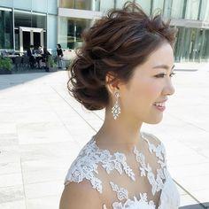 bridal hair👰 - New Hair Styles Asian Wedding Hair, Long Hair Wedding Styles, Indian Wedding Hairstyles, Wedding Hair And Makeup, Wedding Updo, Bride Hairstyles, Messy Hairstyles, Bridal Makeup, Hair Makeup