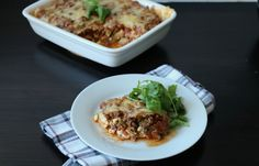 Squashlasagne Fish And Meat, Cottage Cheese, Squash, Tacos, Mexican, Pasta, Healthy Recipes, Dinner, Ethnic Recipes