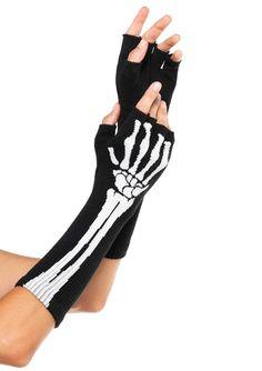Leg Avenue Inc Women's Skeleton Print Fingerless Gloves Black One Size Leg Avenue Skeleton Gloves, Skeleton Arm, Women Skeleton, Skeleton Leggings, Grunge, Halloween Accessories, Costume Accessories, Visual Kei, Adult Costumes