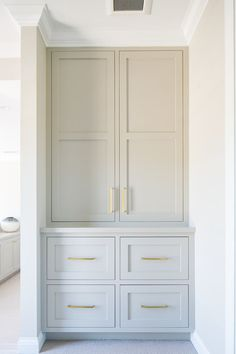 Large built-in pantry suitable for kitchen cabinets Great built-in pan . Large built-in pantry to Home Design, Design Ideas, Design Design, Built In Pantry, Closet Built Ins, Built In Bar Cabinet, Kitchen Built Ins, Built In Buffet, Built In Hutch