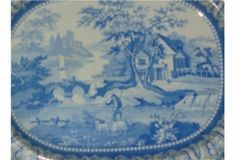 BLUE WILLOW MEAT PLATTER. £400 Meat Platter, Home And Garden, Antiques, Blue, Antiquities, Antique