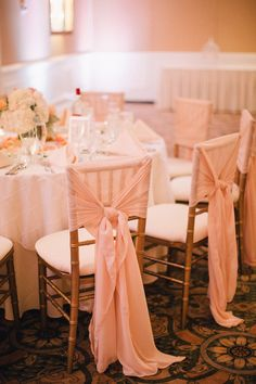 Chair Sashes | Photography: Jenelle Kappe Photography