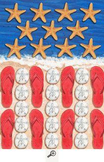 Patriotic Beach Mini Flag.