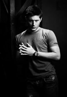 Jenson Ackles as Dean Winchester Black Men, Black And White, Dolph Ziggler, I Have A Crush, Stucky, Dean Winchester, Jensen Ackles, Actors & Actresses, Supernatural