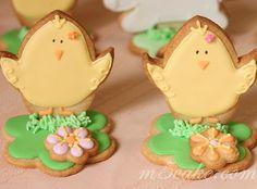 Cute Spring/Easter chick cookies