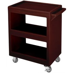"Cambro BC230131 Dark Brown Three Shelf Service Cart - 33 1/4"" x 20"" x 34 5/8"""