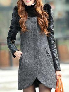 Elegance Woolen-coat Overcoats from fashionmia.com