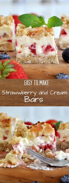 These lick-your-plate delicious strawberry and cream bars are the perfect summer treat