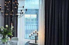 DIY: Gardiner på en skena i taket - 34 kvadrat - Metro Mode Diy Gardiner, Visa, Bright, Curtains, Beautiful, Home Decor, Decorations, Blinds, Decoration Home