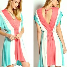 Bahama Mama sunshine dress Amazing color block dress. Sophisticated yet casual. Dress this up or down.  It is time ladies.  Get ready for spring and summer and start it off right with this fabulous dress. Available in small medium and large. Message me to create your listing. Lewboutiquetwo Dresses
