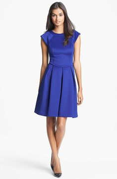 Like this for a modest homecoming dress?  Hailey by Adrianna Papell Cap Sleeve Ponte Knit Dress (Online Only) available at #Nordstrom