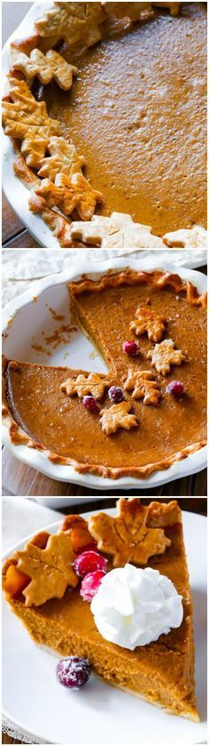 This is THE great pumpkin pie recipe! I've tested several recipes and this one is the absolute best! One secret ingredient puts it over the top. Recipe on sallysbakingaddiction.com