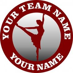 The customized ballet Logo is designed exactly as your request. You can choose any Team Name, Dancer'Name and Number, Background Colors and Image Inside its Circles by any size. Team Names, Colorful Backgrounds, Ballet, Logos, Logo, Ballet Dance, Dance Ballet
