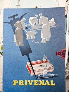 Vintage French pharmaceutical posters.  Strange images.