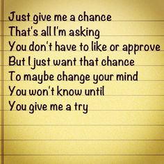 give it a chance quotes