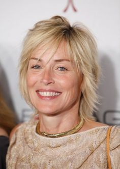 7 Sexy Shag Hairstyles Over 40 | Sharon Stone's Choppy Shag | Style Goes Strong