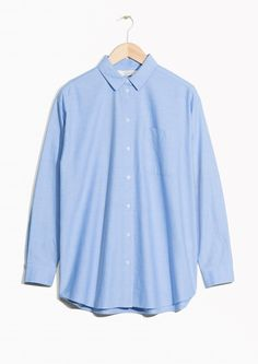 & Other Stories image 1 of Oversized Shirt in Light Blue
