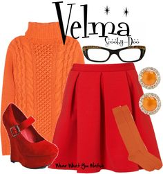Halloween costume Velma in the 2002 live action film Scooby-Doo. Scooby Doo Halloween Costumes, Halloween Outfits, Halloween Ideas, Halloween 2018, Halloween Party, Disney Dresses, Disney Outfits, Velma Scooby Doo, Themed Outfits