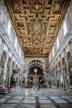 The Basilica di Santa Maria Maggiore in Rome, Italy.