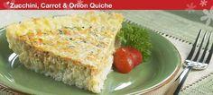 Zucchini,  carrot & onion quiche