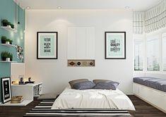 Schlafzimmer Ideen in Weiß und Grün - moderne Gestaltung