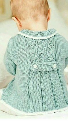 Diy Crafts - NEW Little Princess Coat For 2 to 3 Year Old by AuthenticKnit Baby Cardigan Knitting Pattern Free, Baby Knitting Patterns, Baby Patterns, Knit Baby Sweaters, Knitted Baby Clothes, Knitting For Kids, Free Knitting, Baby Coat, Kind Mode