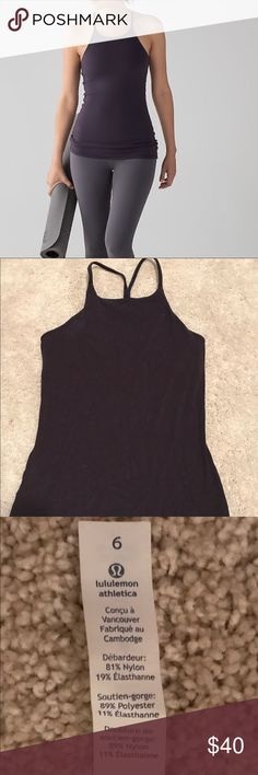 Lululemon Sun Setter tank. Size 6. Grape Worn once. Perfect condition. Have olive too. lululemon athletica Tops Tank Tops